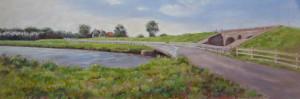 Abel Groenewold Aduarderzijl 27,5 x 80 cm olie- & acrylverf op paneel