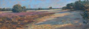 Marcel Duran - ochtend stilte - 40 x 120 cm - olieverf op doek