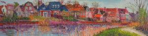 Gertjan Scholte-Albers Winsum 50 x 200 cm olieverf op doek