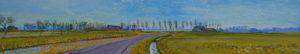 Gertjan Scholte-Albers Winsumerdiep III 30 x 160 cm olieverf op doek
