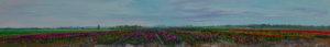 Gertjan Scholte-Albers bollenveld 30 x 200 cm olieverf op doek