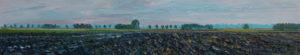 Gertjan Scholte-Albers klei bij Leens 30 x 160 cm olieverf op doek