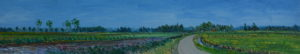 Gertjan Scholte-Albers langs Winsumerdiep 30 x 160 cm olieverf op doek