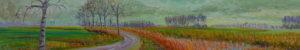 Gertjan Scholte-Albers naar Onderdendam II 30 x 180 cm olieverf op doek