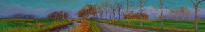 Gertjan Scholte-Albers naar Warffum 30 x 180 cm olieverf op doek