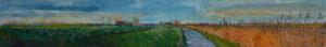 Gertjan Scholte-Albers suikerbieten bij O.D.W 30 x 200 cm olieverf op doek