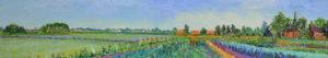 Gertjan Scholte-Albers tuintjes Wetsinge 30 x 160 cm olieverf op doek