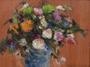 Margreet Boonstra bloemenvaas 25 x 40 cm olieverf op paneel