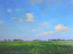 Rutger Hiemstra zomer in Groningen 60 x 80 cm olieverf op doek