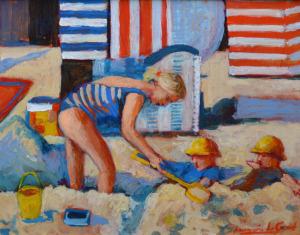 Annemarie de Groot uit de wind 40 x 50 cm acrylverf op doek
