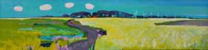 Brunet Riegstra - land 2014 - 30 x 120 cm - acrylverf op linnen