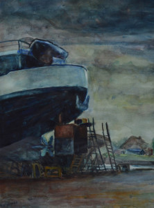 Bé Kracht De Werf 44 x 34 cm aquarel €450,00