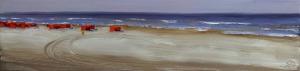 Ans Smits strand Zuid 15 x 60 cm olieverf op paneel