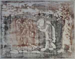 Klaas Koopmans spelende kinderen 50 x 33 cm houtsnede op rijstpapier Euro 200,00