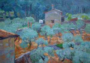 Ben Rikken Toscane 35 x 50 cm olieverf op doek € 2250,00