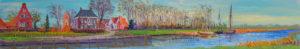 Gertjan Scholte-Albers Garnwerd 30 x 180 cm olieverf op doek