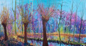 Gertjan Scholte-Albers de wilgen 100 x 200 cm olieverf op doek