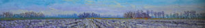 Gertjan Scholte-Albers opgedroogd Rollingeweer 15 x 106 cm olieverf op doek