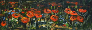 Sonja Brussen with the poppies