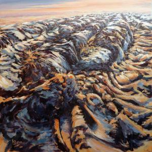 Ben Steijn geploegd 100 x 100 cm acrylverf op doek